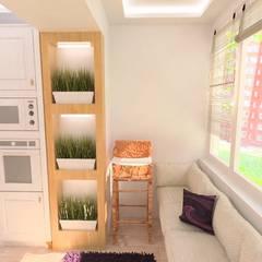4-х комнатная квартира на Почтовом проезде: Кухонные блоки в . Автор – Гузалия Шамсутдинова | KUB STUDIO,