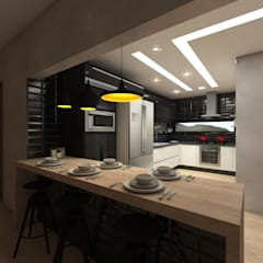 Cozinha Industrial por Caroline Berto Arquitetura Industrial MDF