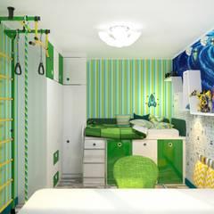 Cuartos para niños de estilo  por Гузалия Шамсутдинова | KUB STUDIO
