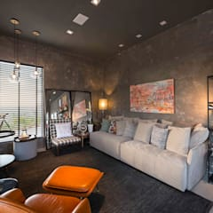 Lounge do Patrocinador: Espaços comerciais  por Erlon Tessari Arquitetura e Design de Interiores