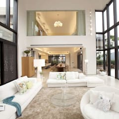 The Lake Dragon: minimalistic Living room by Clifton Leung Design Workshop