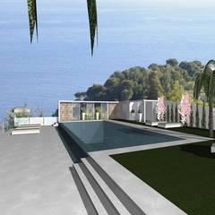 Piletas infinitas de estilo  por Arch. Giuseppe Barone _ Studio di Architettura & Tutela del Paesaggio