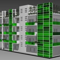 Unità abitative modulari _ Riqualificazione energetica: Centri commerciali in stile  di Arch. Giuseppe Barone _ Studio di Architettura & Tutela del Paesaggio