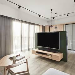 Salas de estilo escandinavo de 禾光室內裝修設計 ─ Her Guang Design Escandinavo