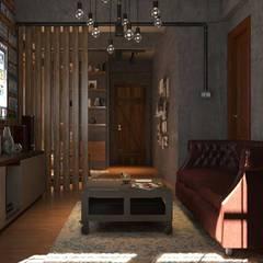 renovate ห้อง พื้นที่ 55 ตร.ม. style modern loft:  ห้องสันทนาการ โดย sixty interior design & renovation,