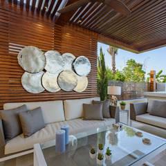بلكونة أو شرفة تنفيذ Hossam Nabil - Architects & Designers, حداثي