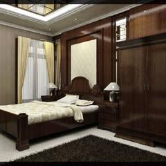 Interior Kamar Tidur Bpk. Soediro: Kamar Tidur oleh SUKAM STUDIO, Klasik