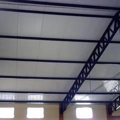 Telhado Piscina Acadef: Edifícios comerciais  por Dartora Esquadrias Metálicas
