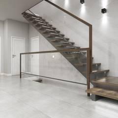 Schody w nowoczesnym klimacie: styl , w kategorii Schody zaprojektowany przez MONOstudio