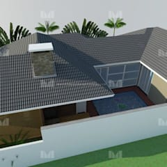 Projeto Casa Contemporânea – Modelo Moderno: Telhados  por Marcelo Brasil Arquitetura