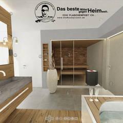 Bad mit Sauna:  Badezimmer von DIE RAUMPIRATEN®