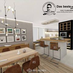Esszimmer mit Tresen zur Küche:  Esszimmer von DIE RAUMPIRATEN®