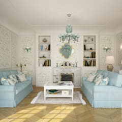 Living room by Tamriko Interior Design Studio, Country