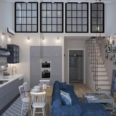 Living room by Tamriko Interior Design Studio, Industrial