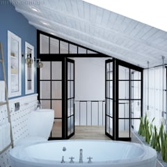 industrial Bathroom by Tamriko Interior Design Studio