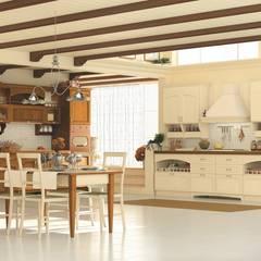 Cucina Praga: Negozi & Locali commerciali in stile  di Linea arredamenti di Mandis Alberto e Co