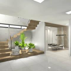 Diseño de zona de entrada garaje: Garajes de estilo  de CARMAN INTERIORISMO