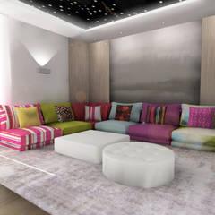 Zona de estar : Salas multimedia de estilo  de CARMAN INTERIORISMO