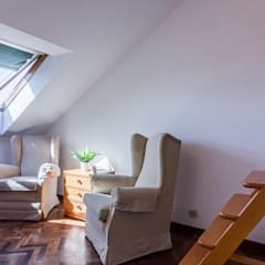 Home Staging en casa de Mercedes en Oleiros, Galicia: Dormitorios de estilo  de CCVO Design and Staging