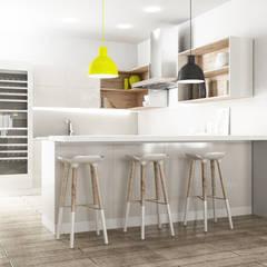 Cocinas de estilo  por SAMANTHA PASTRELLO INTERIOR DESIGN, Escandinavo