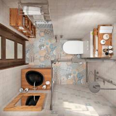Bathroom by Студия архитектуры и дизайна Дарьи Ельниковой