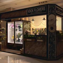Визуализация цветочного павильона: Торговые центры в . Автор – Alyona Musina
