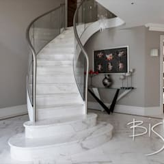 Modern Stone Staircase :  Stairs by Bisca Staircases