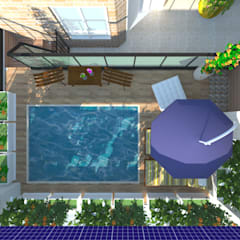 Garden Pool by Amaria Gonçalves - Design Paisagismo