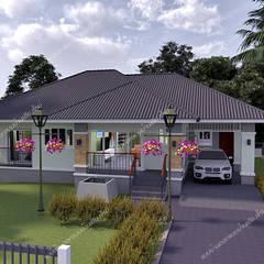 Casas de estilo ecléctico por แบบบ้านออกแบบบ้านเชียงใหม่