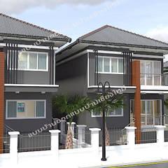 บ้านพักอาศัย 2 ชั้น :  บ้านเดี่ยว by แบบบ้านออกแบบบ้านเชียงใหม่