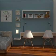 Reforma LP: Dormitorios infantiles de estilo moderno por IMAGENES MR