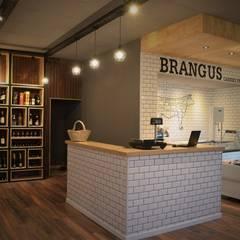 BRANGUS - Mercado: Pisos de estilo  por Da!  Diseño de  Interiores