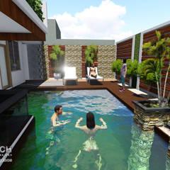 PROYECTO DE VIVIENDA UNIFAMILIAR CASA VERDE: Casas de estilo  por Architech Tacna Arquitectos e Ingenieros