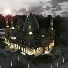 Projekty,  Dach zaprojektowane przez Besar Studio Arsitektur