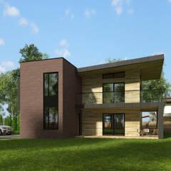 Projekty,  Dom rustykalny zaprojektowane przez K2 DESIGN