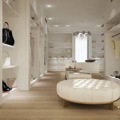 Vestidores y closets de estilo  por MELLINACORTISTUDIO