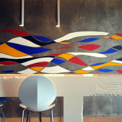 Monolite: Mondrian's landscape: Pareti in stile  di Due Punto Zero