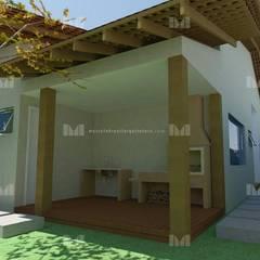 Edícula: Garagens e edículas rústicas por Marcelo Brasil Arquitetura
