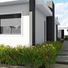 Área de lazer completa e apaixonante: Casas unifamilares  por Trivisio Consultoria e Projetos em 3D