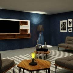 Sala de TV: Salas de estilo industrial por MC Interior