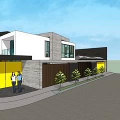 Casa en Barinas: Casas unifamiliares de estilo  por MARATEA Estudio