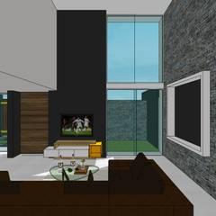 Casa en Barinas: Salas / recibidores de estilo  por MARATEA Estudio