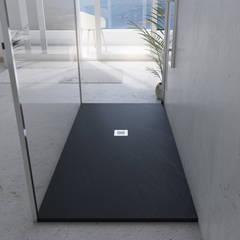 Plato de ducha_pizarra negra: Baños de estilo moderno de A3D INFOGRAFIA