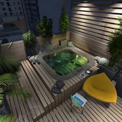 Garden Pond by Aida Tropeano & Asoc., Modern Wood Wood effect