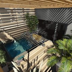 Terrazas: Estanques de jardín de estilo  por Aida Tropeano & Asoc.