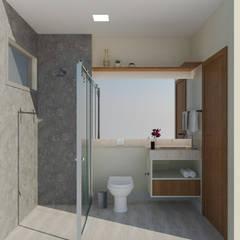 Banheiro social: Banheiros  por Daniela Ponsoni Arquitetura