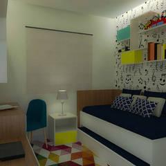 Dormitório do menino : Quartos dos meninos  por Daniela Ponsoni Arquitetura