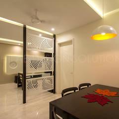 1500 Sft Residence at Rohan Kritika, Sinhagad Road, Pune : minimalistic Dining room by Archilab Design Solutions Pvt.Ltd.