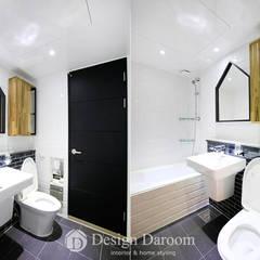 수유 두산위브 아파트 34py: Design Daroom 디자인다룸의  욕실