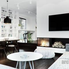 Projekt jadalni w domu jednorodzinnym : styl , w kategorii Jadalnia zaprojektowany przez Archi group Adam Kuropatwa